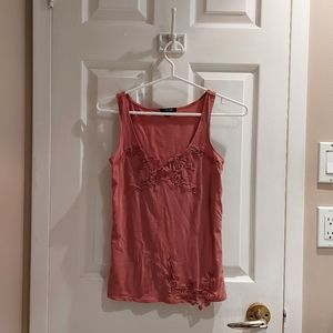 NWOT Pink Jacob Tank Top w/Embroidery, XS